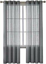 Deconovo 2er Set Vorhang Gardinen Wohnzimmer Voile