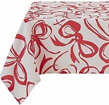 Deconovo Dekorative quadratische Tischdecke mit