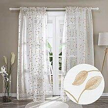 Deconovo Gardinen für Schlafzimmer, transparent,