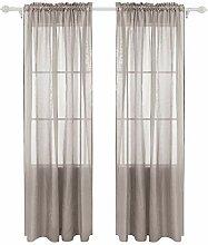 Deconovo-Gardinen für Wohnzimmer, 132 x 243 cm,