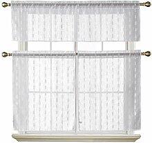 Deconovo-Gardinen-Set für kleine Fenster, 149,9 x