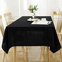 Deconovo Tischdecke Leinenoptik Lotuseffekt Tischwäsche 130x130 Weiß