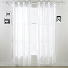 Deconovo TAFT Fenster-Vorhang mit glänzenden