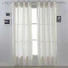 Deconovo TAFT Fenster-Vorhang mit glitzernden