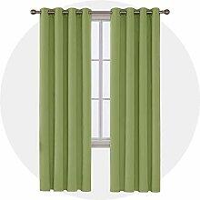 Deconovo Thermo-Vorhang für Fenster, Blickdicht,