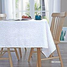 Deconovo Tischdecke Abwaschbar Tischwäsche mit