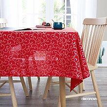Deconovo Tischdecke Lotuseffekt Tischwäsche mit