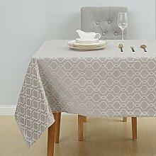 Deconovo Tischdecke Tischwäsche Wasserabweisend