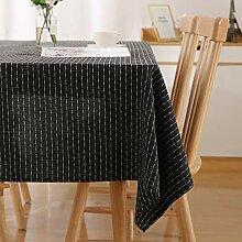 Deconovo Tischdecke Wasserabweisend Streifen