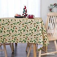 Deconovo Tischdecke Wasserabweisend Tischdecke