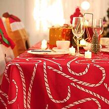 Deconovo Tischdecke Wasserabweisend Weihnachten