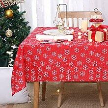 Deconovo Tischdecke Weihnachten Tischwäsche