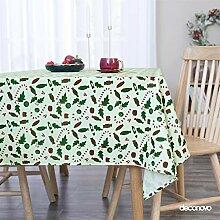 Deconovo Tischtuch Tischdecke Wasserabweisend