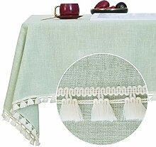 Deconovo Tischwäsche mit Quaste Leinenoptik