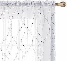 Deconovo Transparente Gardinen Wave Line mit