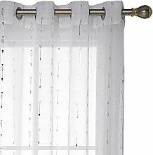 Deconovo Voile Gardinen transparent Vorhänge