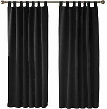 Deconovo Vorhang Blickdicht Schlaufen Gardinen