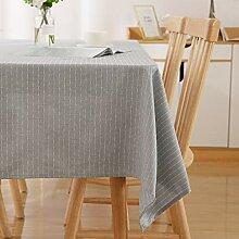 Deconovo Wasserabweisend Streifen Tischwäsche