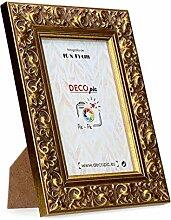 DECOPIC Holzbilderrahmen Gold 18x24 Gold