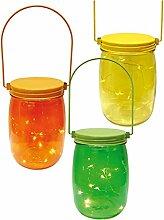 Decor Service Deko-Glas mit LED summerday, Bunt 16