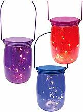 Decor Service Deko-Glas mit LED summernight, Bunt,