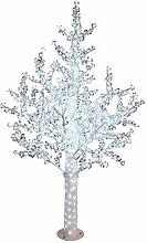 Decor Service LED Lichterbaum mit Blüten, Weiss,
