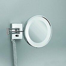 Decor Walther Leuchtspiegel BS DI 25 PL Chromfarben IP44 | Inklusive Leuchtmittel: G23 7W 400lm | 0114000