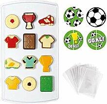 Decora 0890013 Set Backform für Fußball, 15 x 26
