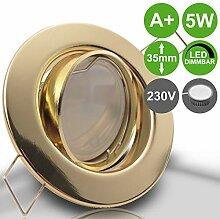 DECORA 5er Set 230V LED 5W dimmbar Decken