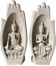 Decora Buddha-Handskulptur,Sandstein Buddha