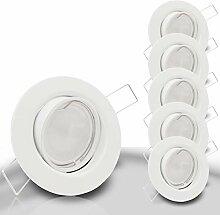 DECORA Decken Einbaustrahler 5x SMD LED 6W dimmbar