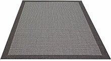 Decora Flachgewebe Teppich Uni grau 200x290 cm
