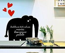 Decoramo Tafelfolie Elefant, PVC, schwarz, 60x