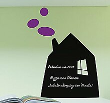 Decoramo Tafelfolie Haus, PVC, schwarz, 50x