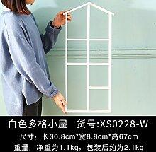 Decoratee amerikanischen Kleines Haus Wandregal Wand Wand Wand Dekoration kreative Clothing Store Zimmer Deko Anhänger, Weiß Regal