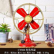 Decoratee amerikanisches Land Retro Ventilator Cafe Modell Kleidung Schmuck Shop Fenster Requisiten Heimtextilien weich Deko Abteilung, Mittlerer Ventilator Ro