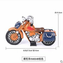 Decoratee Vintage Motorcycle Shop Dekoration kreative Resin Model Heimtextilien Accessoires Kinderzimmer, Km 004 B [Motorrad Orange]