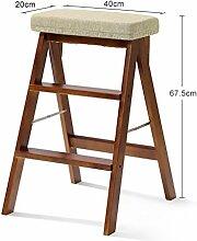 Decorative stool Klappstühle, Hocker Barhocker Wohnzimmer Küche Schlafzimmer Club Restaurant Küche Balkon Stuhl Massivholz Hocker Größe 20 * 40 * 67.5CM (Farbe : C)