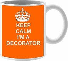 Decorator Tasse aus Keramik Design auf weiß