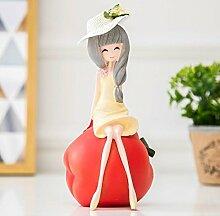 Decoresd Obst Mädchen Schlafzimmer Ornamente