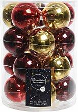 Decoris DEO4063146 Weihnachtskugeln, Glas, Xmas,