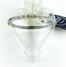 Decoris® Geschenkanhänger Herz transparent -