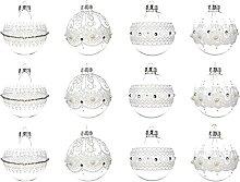 Decoris Weihnachtskugeln Glas mit Spitze 8cm x 12