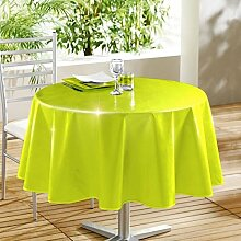 Decorline 160cm PVC LAQUEE Unie glänzend Tischdecke, Anis grün