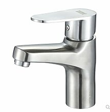 Decorry 304 Edelstahl Waschbecken Mit Warmen Und Kaltem Wasser Hahn Waschbecken Wasserhahn Wc Unten Becken Einloch Mischbatterie Keramikscheibe Schieber