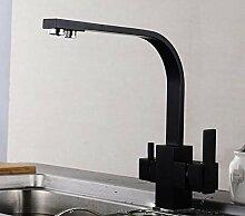 Decorry Schwarzes Quadrat küchenarmatur für