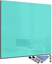 decorwelt Glas-Magnettafel 50x50 cm Whiteboard