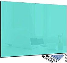 decorwelt Glas-Magnettafel Türkis 90x120 cm