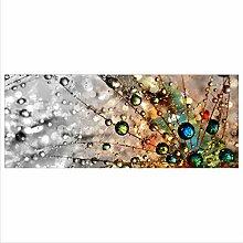 decorwelt Glasbild 125x50 XL Pusteblume Bunt