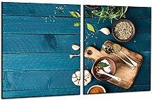 decorwelt   Herdabdeckplatten 2x40x52 cm 2-Teilig